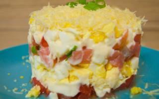 Салат с красной рыбой и сыром рецепт