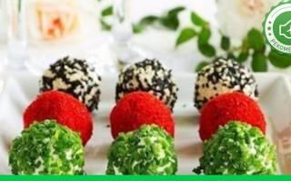 Закусочные овощные шарики с сюрпризом рецепт