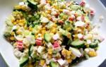 Крабовый салат с кукурузой и рисом рецепт