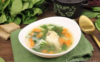 Суп со шпинатом рецепт