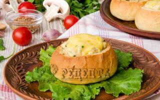 Жульен в булочках с курицей и грибами рецепт
