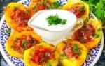 Картошка с начинкой в духовке рецепт