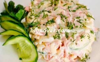 Салат с ветчиной и грибами на пасху рецепт