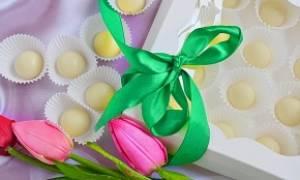 Конфеты из белого шоколада