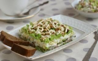 Салат из говяжьего языка с солеными огурцами