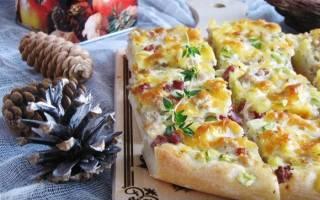 Открытый пирог с фаршем и картофелем в духовке: рецепт