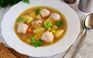 Домашний гречневый суп с фрикадельками рецепт