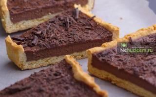 Тарт с шоколадной начинкой