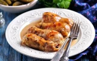 Фаршированные куриные голени рецепт