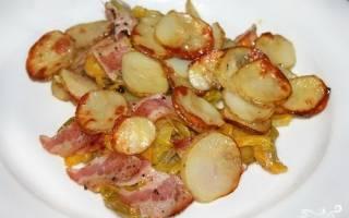 Кабачки запеченные в духовке с картошкой рецепт