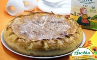Пирог с фаршем и капустой