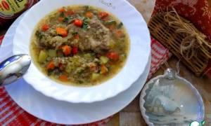 Суп со свининой и гречкой рецепт