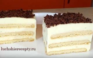 Торт из печенья с творогом и желатином