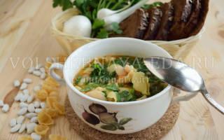 Постный фасолевый суп рецепт