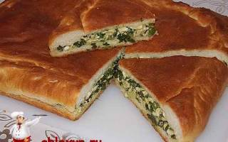 Пирог с яйцами и зеленым луком в духовке: пошаговый рецепт с фото