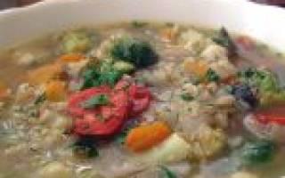 Гречневый суп без мяса рецепт
