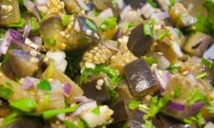 Холодная закуска из баклажанов с чесноком рецепт