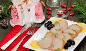 Нарезка для праздника из маринованной свинины рецепт