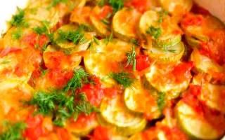 Кабачки в духовке с сыром и чесноком и помидорами: пошаговый рецепт