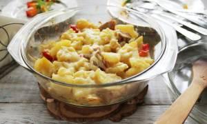 Куриная грудка с картошкой в духовке рецепт