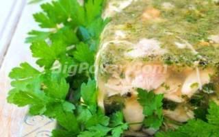 Холодец из свиных ножек и индейки рецепт