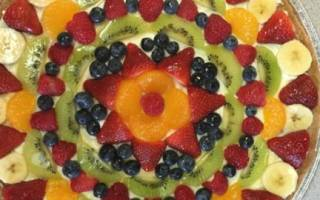 Сладкая пицца с фруктами рецепт