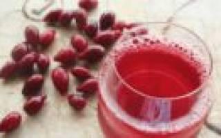 Кизиловый компот рецепт
