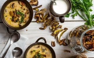 Грибной суп из сухих грибов рецепт