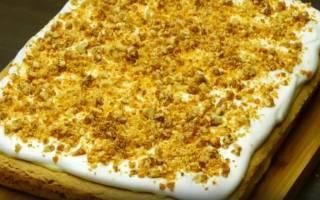 Торт с безе и орехами рецепт