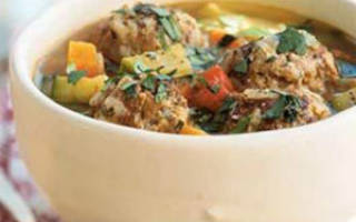 Диетический суп с фрикадельками рецепт