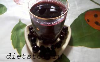 Морс из черной смородины