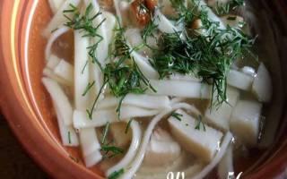 Лапша с белыми грибами: рецепт с фото