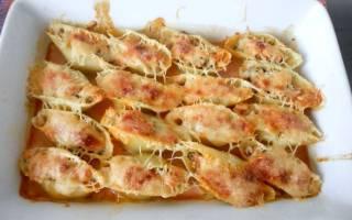 Фаршированные макароны-ракушки рецепт