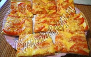 Вегетарианская пицца рецепт