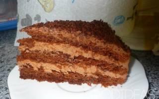 Шоколадный торт с вареной сгущенкой