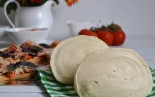 Тонкое тесто для пиццы без дрожжей рецепт