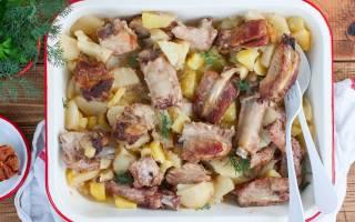 Ребрышки в духовке с картошкой рецепт