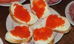 Бутерброд с икрой рецепт