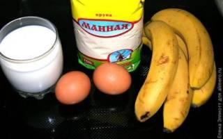 Банановый пудинг в пароварке