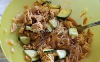Спаржа и фунчоза – сочетаем в одном салате рецепт