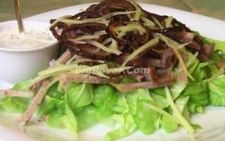 Салат с сельдереем и бужениной рецепт