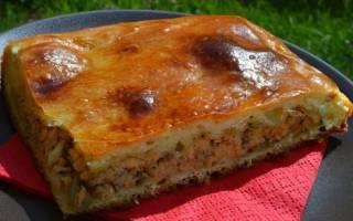 Пирог с картошкой и рыбой