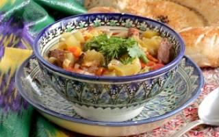 Лагман по узбекски в домашних условиях рецепт