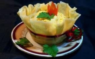 Салат с чесноком рецепт