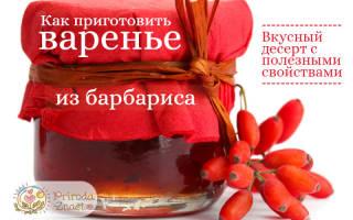 Варенье из барбариса рецепт