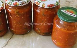 Баклажаны в томате с острым перцем на зиму рецепт