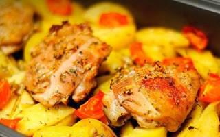 Бедрышки в духовке с картошкой рецепт