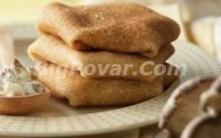 Фаршированные блины с сыром и грибами рецепт