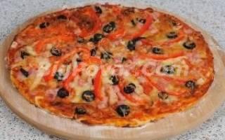 Пицца с копченой курицей рецепт