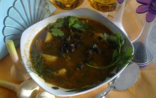Суп из фасоли без мяса рецепт